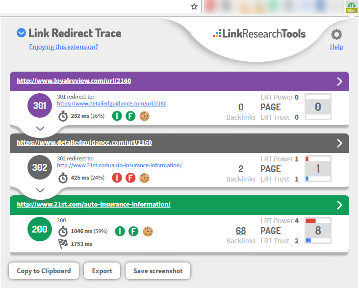 Link Redirect Trace link redirect chain